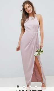 BNWOT Formal Baby Pink Backless Maxi Dress s14