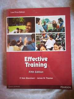 Effective Training (Psychology book)