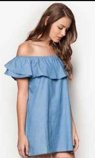 Up: $12 NOW $6 FLASH SALE Zalora love off shoulder ruffle dress