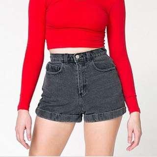 American Apparel Black Jean Shorts