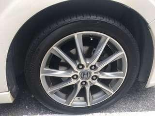 "Honda Stream RSZ 17"" rim with tyres"