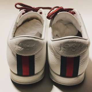 Authentic Gucci white shoes