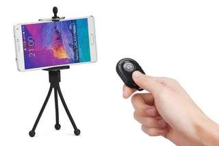 Tripod + remote for iOS/android devices