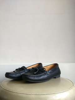 Florsheim Black Leather Loafers 37
