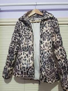 Tempt puffy Cheetah Jacket