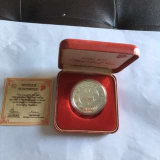1990 Year of Horse $10 Silver Proof Coin