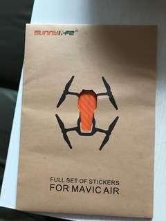 Mavic Air碳纖維貼紙-橙色