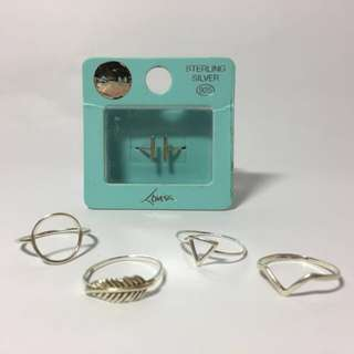 Lovisa Sterling Silver Rings
