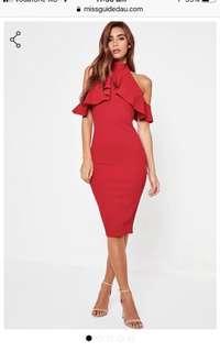 Red Midi - Missguided Dress
