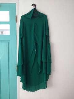 Khimar cardi green