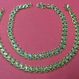 👉COD avail👈 916 vitara gold bracelet 17cm