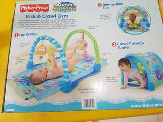 Fisher baby kick and crawl gym