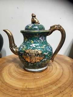 🚚 歐正春 鎏金琺瑯彩紫砂壺