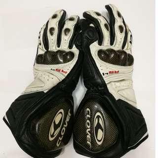 Clover RS4 Kangaroo Leather Racing Gloves