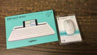 Logitech K480 Bluetooth keyboard and m558 mouse 藍芽鍵盤及滑鼠