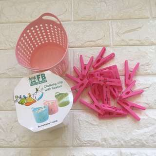Clothing Clips with Basket