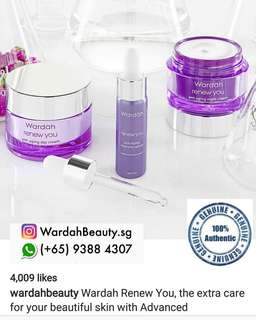 Wardah renew you anti aging intensive serum $14 ....buy set  the serum get discount $12.60nett price/each