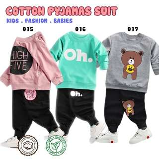 Pyjamas cottob long sleeve kids