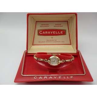 """1964年 Caravelle By Bulova 寶路華 60""""s 女裝上練手錶"""