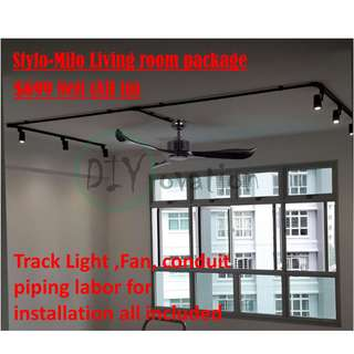 [BTO/HDB] Stylo Milo Living Track lighting package