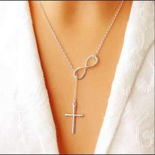 Necklace infinity/cross