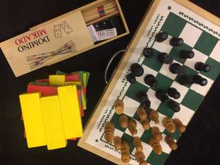 Pre-loved Games (jenga, chess, domino mikado)
