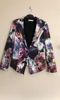 TALULA Ladies Jacket Size XL Long Sleeve Multicoloured Jacket Pleated Back EC