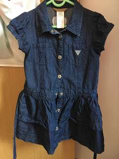 Authentic Guess Denim Dress for Girl