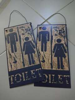 Cheapest: Brand new pair of tin signs