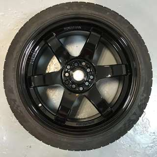 "Dekit Sale! 17"" Volks Racing Japan Design rep rims!"