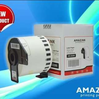 PAPER LABEL DK-22205 AMAZINK FOR PRINTER LABEL