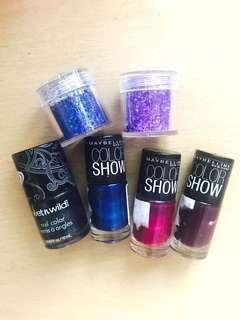 All-6-Wet & Wild, Maybelline Color Show, & Nail Glitters
