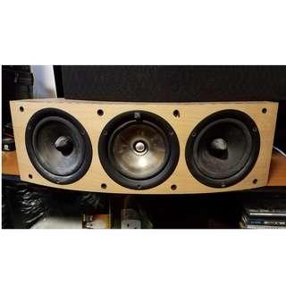 kef iq6c 同軸 中置 喇叭 楓木色 center speaker 5.1