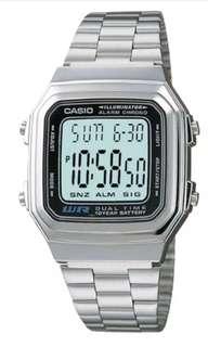 Unisex Sliver Casio Watch