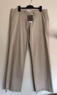 COUNTRY ROAD Ladies Pants Size 16 Beige Wide Leg Pants NWT