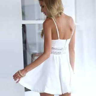 Lace Cocktail Mini Dress