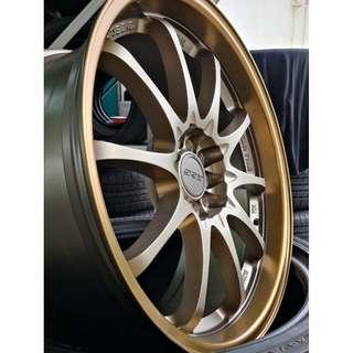 "CE28 Bronze 18"" dual spec 5X100 / 5X112"
