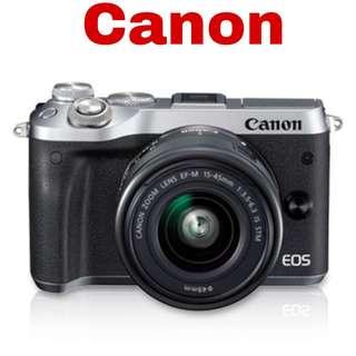 Canon M6 (EF-M 15-45mm) Mirrorless Camera