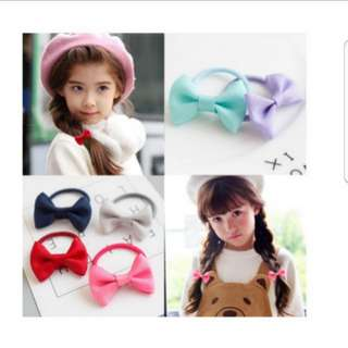 ($1.2/pair)Girl Ribbon Hair Tie