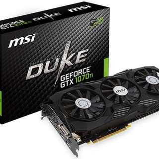 MSI GeForce GTX 1070 Ti DUKE 8GB Graphics Card - SKU: MSI GEFORCE GTX 1070 TI DUKE 8GB