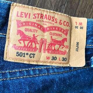 "Levi's 501 CT (Custom Tapered) Waist 30"""