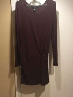 Burgundy sweater dress, never worn