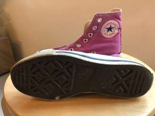 Converse all- star high cut Sneakers hot pink