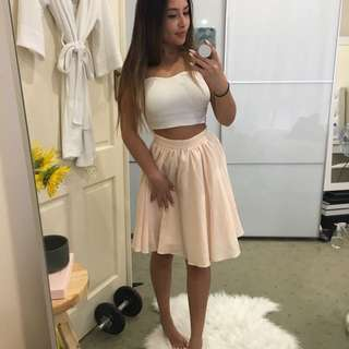 Missguided Blush Skirt Size 8
