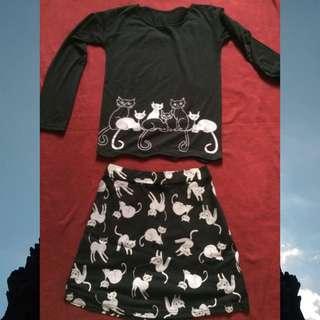 shirts and mini skirts