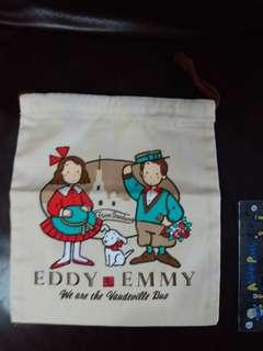 Eddy & Emmy The Vaudeville Due 狗男女日本絕版1991年日本銀行出的佈索袋