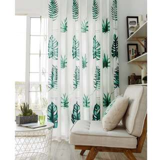 Tropical Living Room Curtain