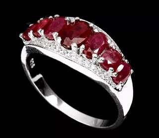 Elegant Red Rudy Ring US7