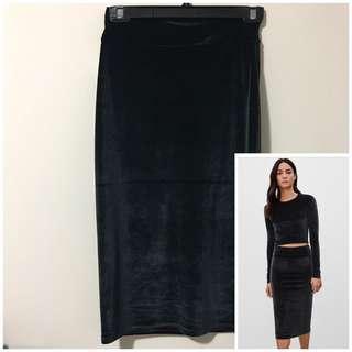 Aritzia Wilfred Free XS Velour Bela Skirt