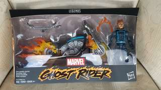 """In stock Hasbro 6"""" Ghost Rider with flame cycle."""